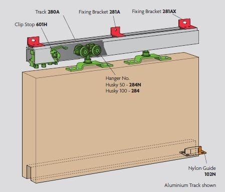 Henderson Husky H 100 1 8 Metre Sliding Single Track For 1
