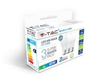 LED A60 Bulb 9W 3 Pack
