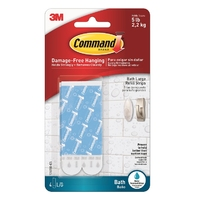 Command Water Resistent Replacement Strips 4pk 17605B
