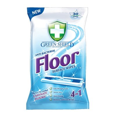 Green Shield Anti-Bacterial Floor Surface Wipes, 24 Extra Large Sheets