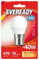 EVEREADY 6W (40W) B22 LED GOLF BALL 470 LUMENS