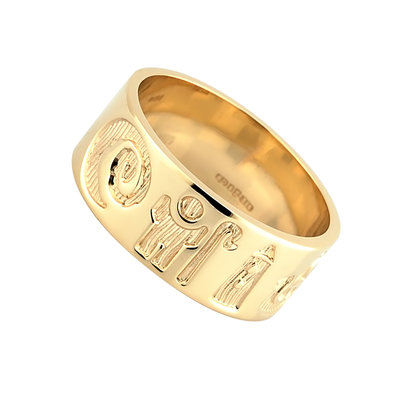 14 karat yellow gold history of Ireland ring S2407 from Solvar