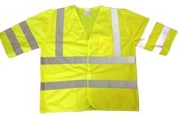CCC Hi-Visibility Short Sleeve Vest Class 3 Yellow