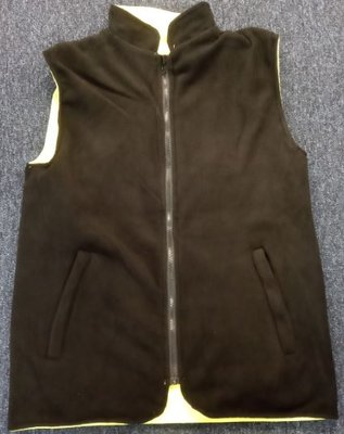 Black fleece padded bodywarmer