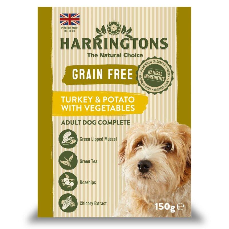 Harringtons Wet Turkey & Potato Dog Food Trays 7 x 150g
