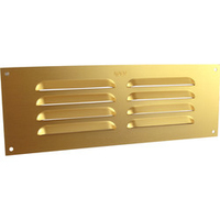 """MAP METAL LOUVRE VENT GOLD 9"""" X 3"""""""