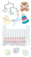 Baby Crib Essential Craft Sticker.