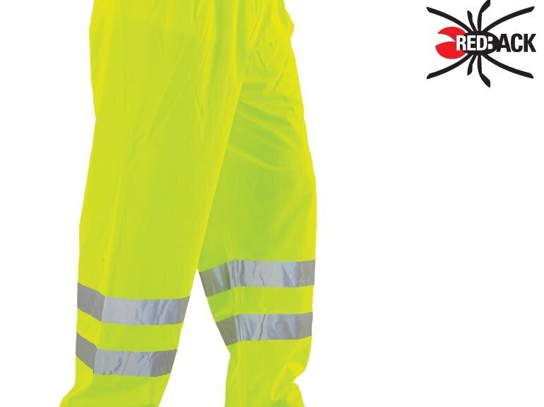 REDBACK Dri-Flex PU Hi-Visibility Waterproof Trousers Yellow