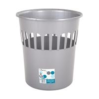 Casa 16L Waste Paper Bin/Basket Silver