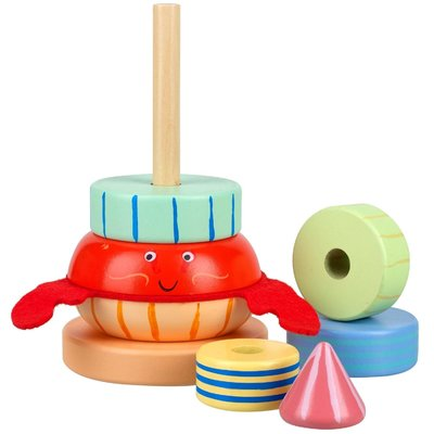 Hermit Crab Stacking Toy - memorabletoys.ie