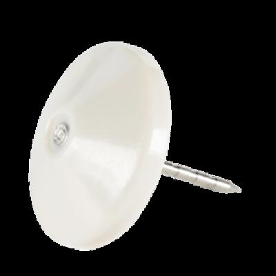 SEKURA Plastic Head Pin with Grooves Grey (100)