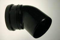 Soil Bend 110mm x 45 degree 1 socket Black