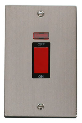 Click Deco Victorian Stainless Steel with Black Insert Tall Cooker Switch | LV0101.0091