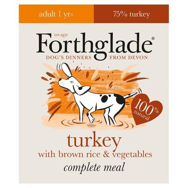 Forthglade Complete Turkey Dog Food 18 x 395g