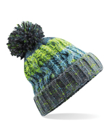 Beechfield B486 Corkscrew Pom Pom Beanie Electric Grey