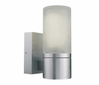 ONE Light Aluminium Surface Wall Light with Opaque Glass E27 IP54