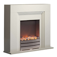 York Ivory Firplace Suite H750*W810*D270 1And2Kw Heat Settings
