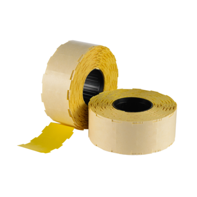 LYNX NOR B 25x14mm (WITH SLITS) Labels - Yellow Removable (Box 45k)