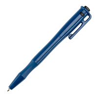 "Detectable Non-retractable ""Stick"" Pen - c/w Pocket Clip and Lanyard Loop"