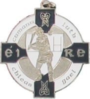 34mm Hurling Medal - Silver / Navy