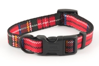 "Ancol Red Tartan Polyester Adjustable Collar 8"" - 12"" x 1"