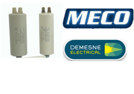 Tab type meco capacitors