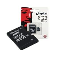 SDC10/8GB | Kingston Technology 8 GB microSDHC, 10 MB/s, Black, Gold, 3.3V
