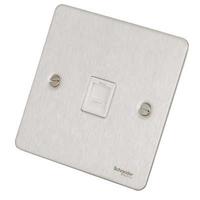 Flat Plate Stainless Steel RJ45 DATA Socket WH Insert|LV0701.0605
