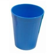 Fluted Tumbler Med Blue Polycarbonate 7oz 200ml
