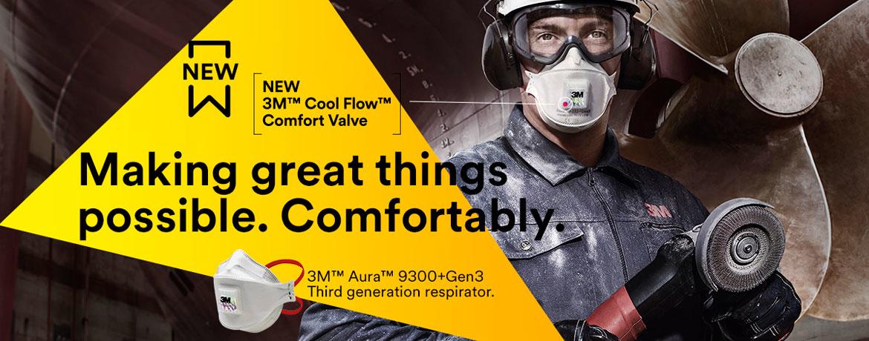 3M™ Aura™ Particulate Respirators 9300+Gen3 Series