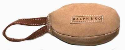 Ralph & Co Buffalo Suede Rugby Ball Toy x 1
