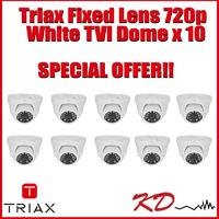 Triax Fixed Lens 720p TVI Dome  White X 10