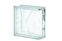 Glass Block Wavy End Piece 190 x 190mm