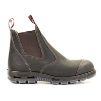 Redback USBOK Slip On Safety Boot With Scuff Cap Brown