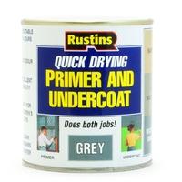 RUSTINS QUICK DRYING GREY PRIMER & UNDERCOAT 500ML