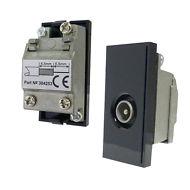 Triax Single TV IEC (M) Insert Black (304253)