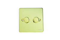 UFP 2G 2 Way 250W/VA M&LV DIMMER Polished Brass | LV0701.0140
