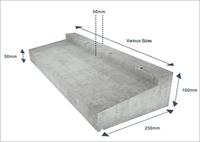 Concrete Window Cill 8 foot 6 inch (2590mm)