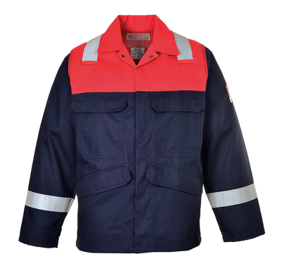 FR55 Bizflame FR AST Jacket Navy/Red c/w Reflective Strips