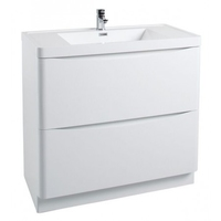 Bali White Gloss Floor Standing Cabinet 900mm