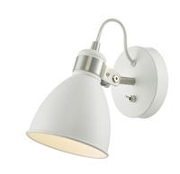 Fredrick Wall Light, White and Satin Chrome | LV1802.0028