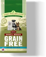 James Wellbeloved Adult Small Breed Dog Grain-Free - Turkey 7.5kg