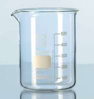 Beaker Low Form 400ml, Graduated, Borosilica