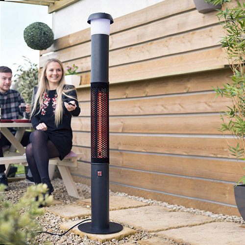 Warmvibes Standing Heater with Light & Music with background
