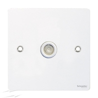 Flat Plate WH 1G COAXIAL Socket WHITE|LV0701.0560