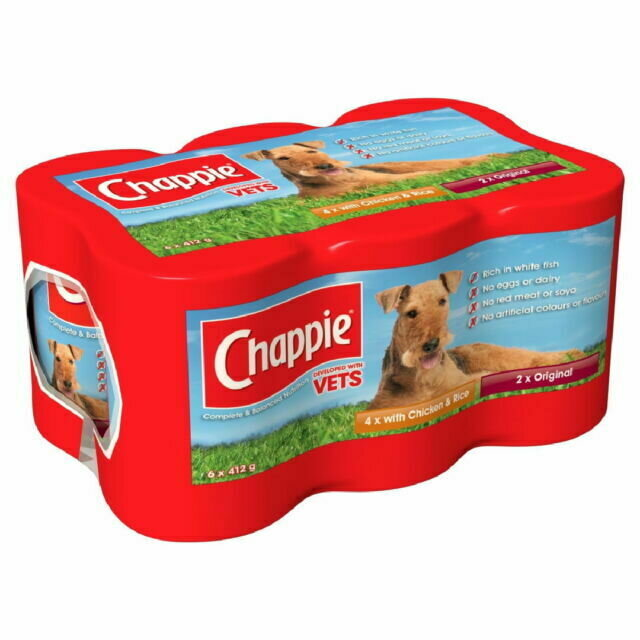 Chappie Tins Loaf Favourites Jumbo Pack - 4 x 6 x 412g