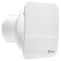 "Xpelair Simply Silent 4"" 100mm Square Bathroom Timer Fan"