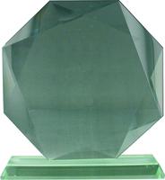 17cm Octagon Glass Plaque (Satin Box)