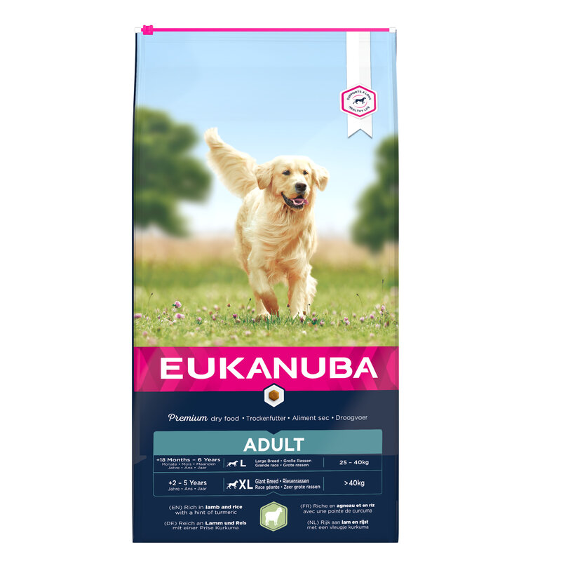 Eukanuba Adult Large Breed with Lamb & Rice 12kg