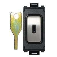 Schneider Ultimate Screwless Grid Stainless Steel 2way Key Module|LV0701.1129